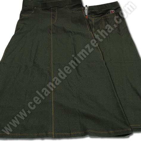 Harga Celana Merk Zetha rok zetha denim warna army celana denim zetha