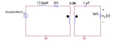 ideal inductor circuit convert the ideal transformer to an equivalent t n chegg