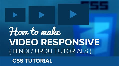 css tutorial urdu pdf how to make video iframe responsive in css hindi