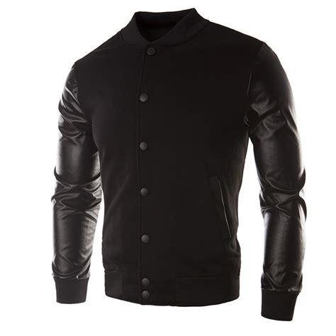 design cooling jacket new bomber jacket men 2015 fashion design pu leather