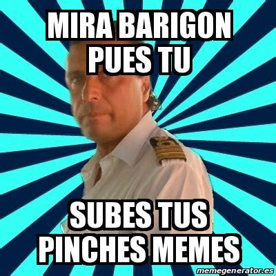 Pinches Memes - meme francesco schettino mira barigon pues tu subes tus