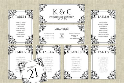 wedding seating chart template word wedding seating chart template by karmakweddings on etsy