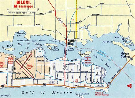 biloxi map mississippi aaroads mississippi gulf coast