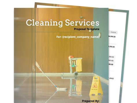 cleaning services template free business templates