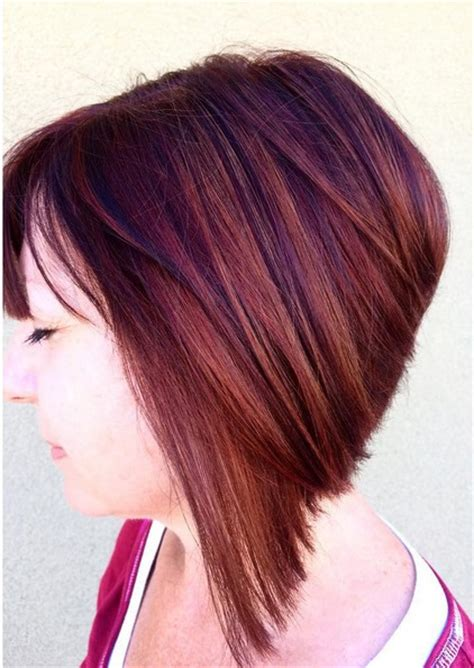 angled bob colored hair 18 hot angled bob hairstyles shoulder length hair short