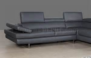 Slate Grey Leather Sofa A761 Slate Grey Leather Sectional Sofa By J M