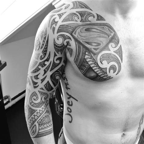 superman tribal tattoos sleeve maori superman best ideas gallery