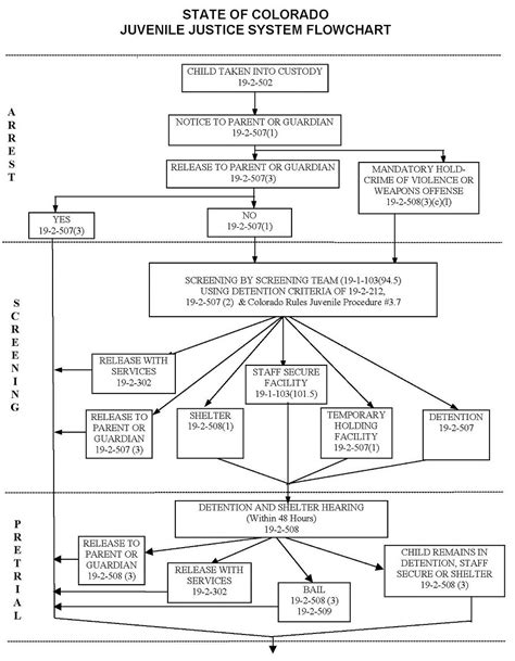 criminal flowchart colorado juvenile criminal justice flowchart denver