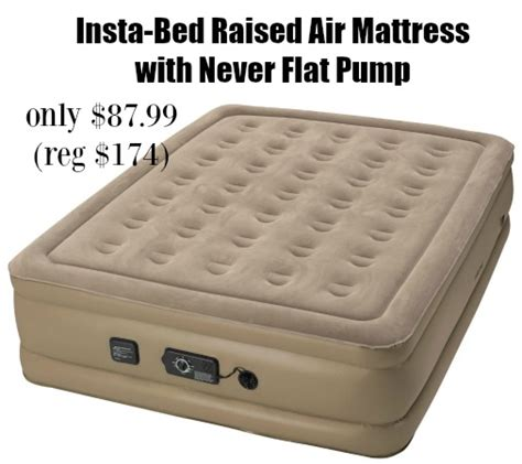 insta bed raised air mattress with never flat only 87 99 shipped addictedtosaving