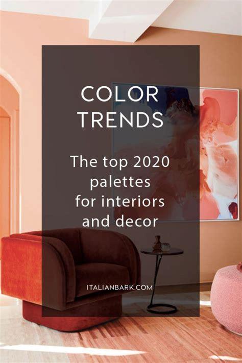 color trends top palettes  interiors
