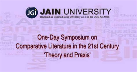 themes of comparative literature jain university is one of the top universities in india