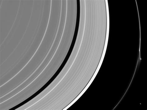 what is saturn ring made of a mysterious object just made a dent in one of saturn s rings
