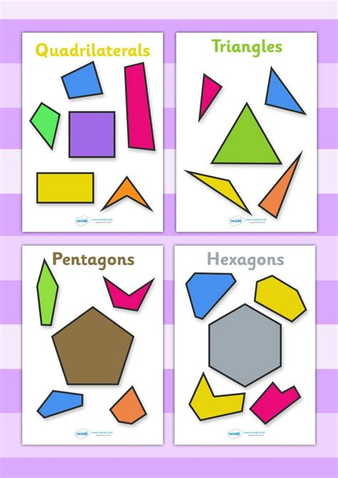 printable polygon poster twinkl resources gt gt 2d regular and irregular shapes