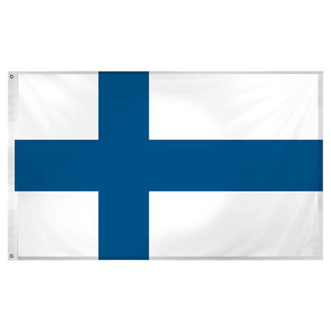 finland flag 3ft x 5ft superknit polyester
