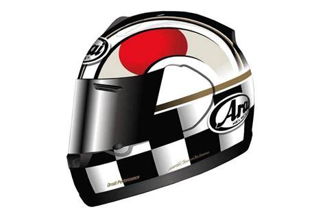 Helmet Arai Jepun Arai Quantum Flag Japan Helmet Launched To Help Tsunami