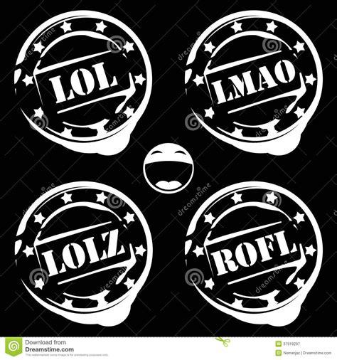 abbreviation for background lol abbreviation on white background stock photo