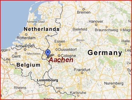 germany netherlands border map aachen germany the ancient capital of the holy