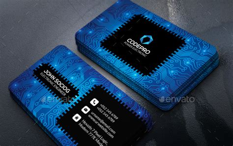 electronic business card templates 26 cool business card templates for technology company