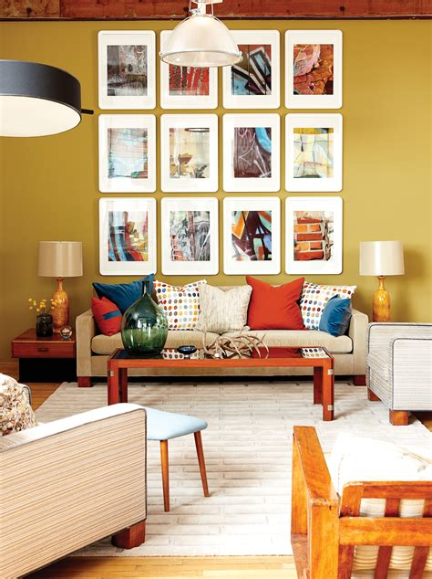 how to decorate a wall with pictures snazzy living room decor ideas offer brown fabric couch