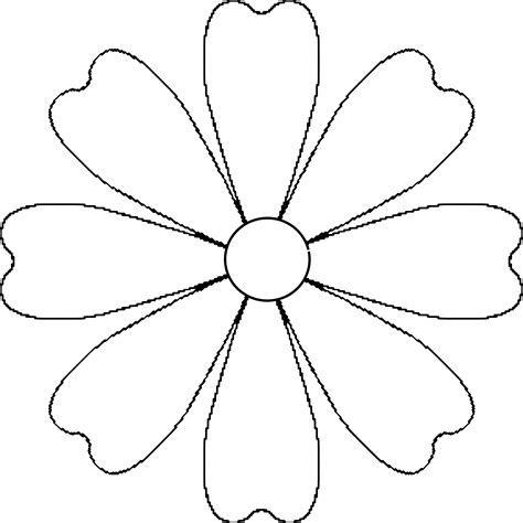 flower template with 6 petals images for gt flower petals template 3 d flower petal