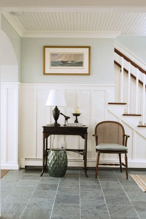 shiplap foyer coastal home seaside home entry foyer slate floor