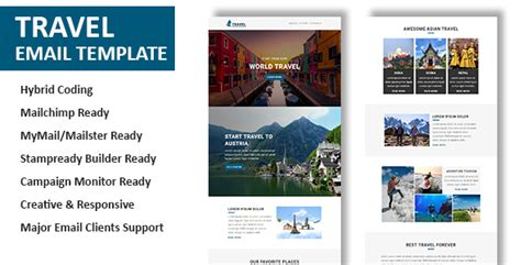 travel email templates travel multipurpose responsive email template with
