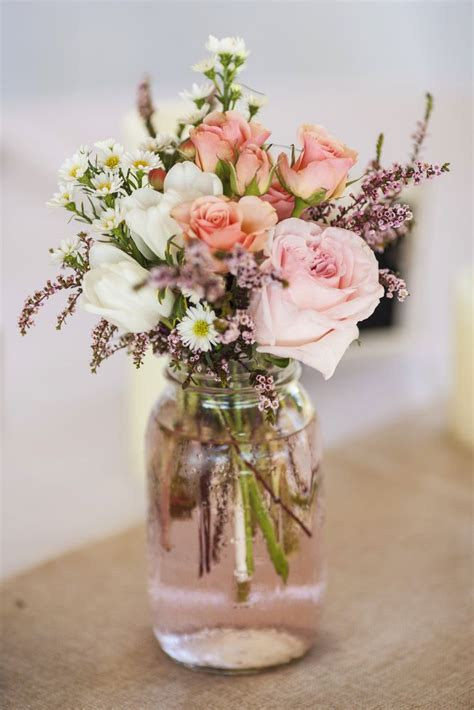 Wedding Flower Arrangement Ideas by Gift Jar Flower Arrangements
