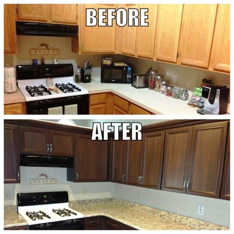 stain kitchen cabinets before and after 4 cheap simple ways to add value to your home boggs