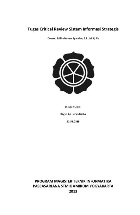Contoh Literature Review Sistem Informasi by Contoh Jurnal Sistem Informasi Contoh M