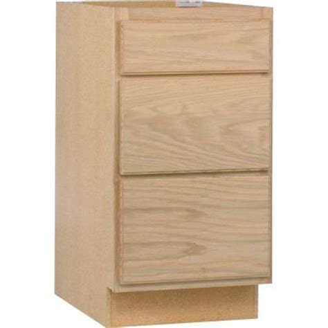 home depot kitchen cabinets unfinished 18x34 5x24 in base cabinet with 3 drawers in unfinished