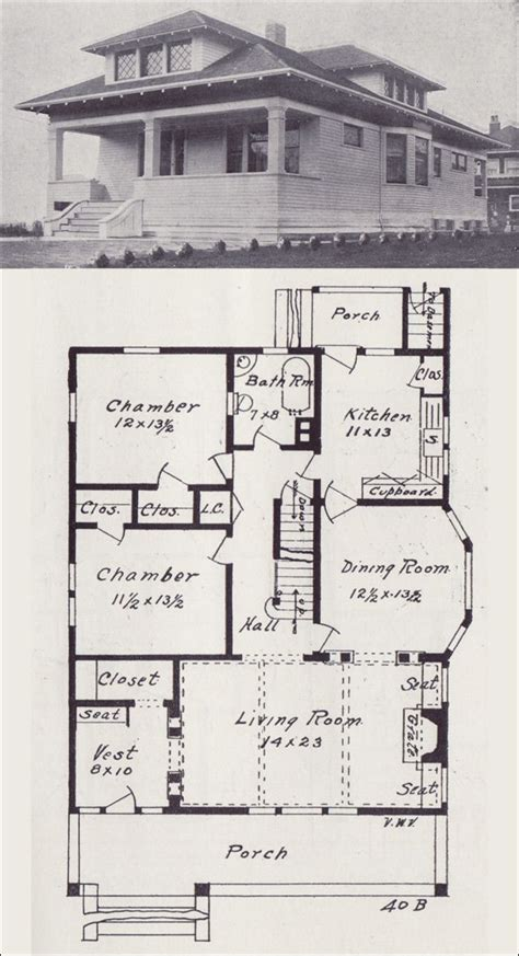 western homes floor plans 1908 western home builder no 40b bungalows exteriors