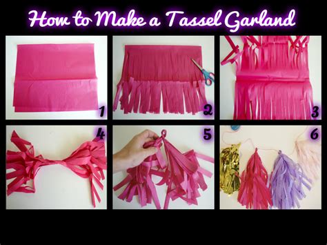 How To Make A Tissue Paper Tassel Garland - tissue paper crafts archives miss bizi bee