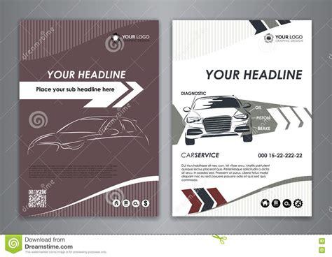 car service business card templates a5 a4 set service car business card templates auto