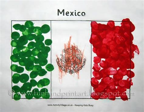 ideas para hacer banderas q represente a la familia fingerprint flag of mexico craft bandera de m 233 xico