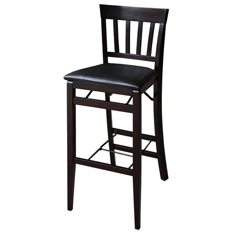 Folding Bar Stool With Back linon triena 30 quot mission back wood folding bar stool