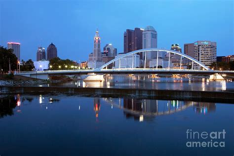 downtown skyline of columbus photograph by bill cobb