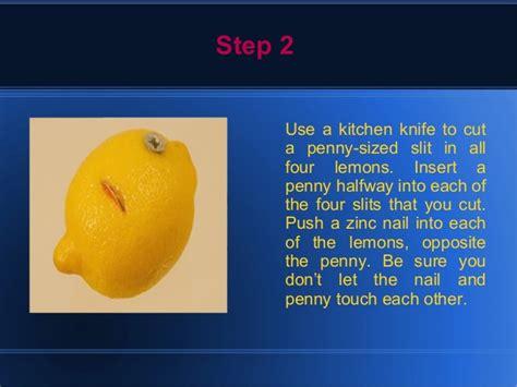 how to a lemon battery light a light bulb lemon powered light bulb