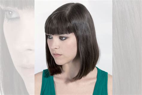 shoulder length pageboy blunt feather cut hairstyles for elegance and style