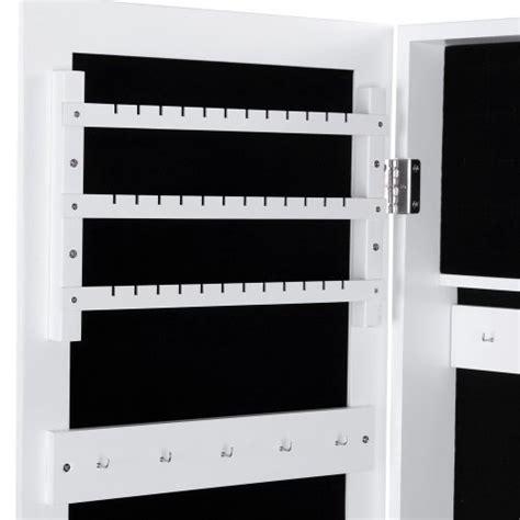 armadio portagioielli songmics 153cm armadio specchio portagioie gioielli bianco