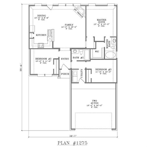 house plans one story open concept one story house plans with open concept plan 1275 floor