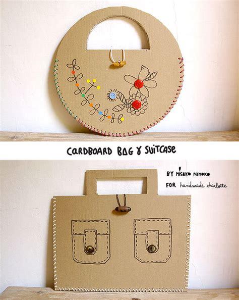 DIY Laced Cardboard Handbags   Handmade Charlotte