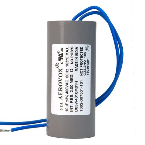hid lighting capacitor 400vac aerovox d83w4010m01h