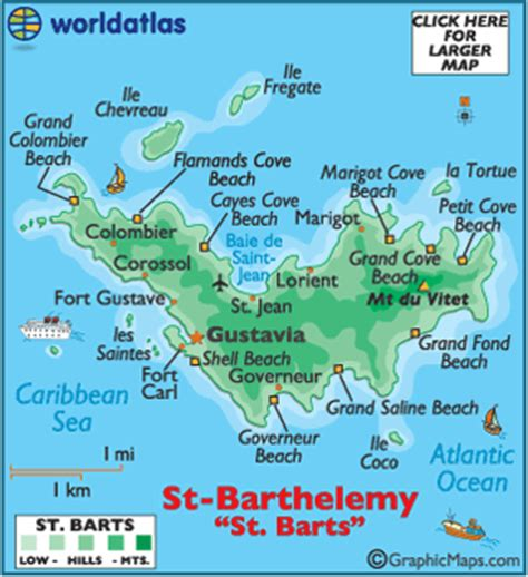 map of st and surrounding islands barts map geography of barts map of
