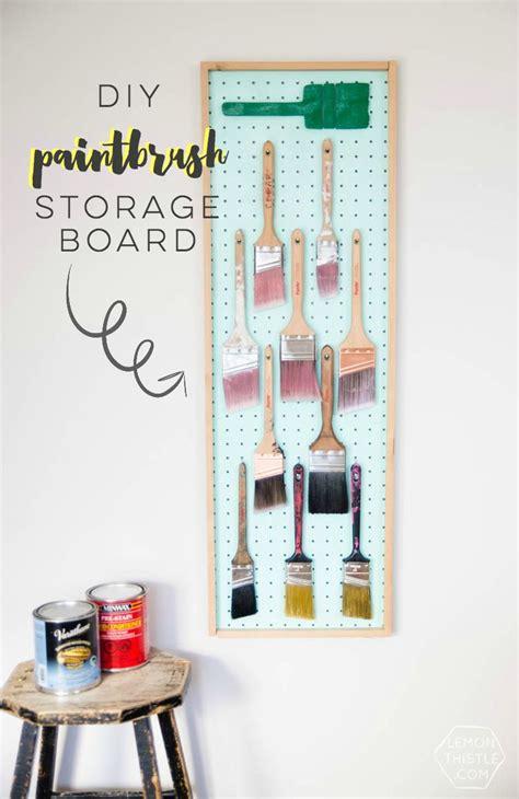 diy pegboard storage best storage design 2017 best diy crafts ideas diy paintbrush storage board using