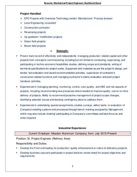 senior project engineer resume resume ideas