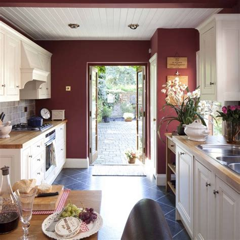 red wall kitchen ideas red accent wall kitchens colour decor ideas traditional