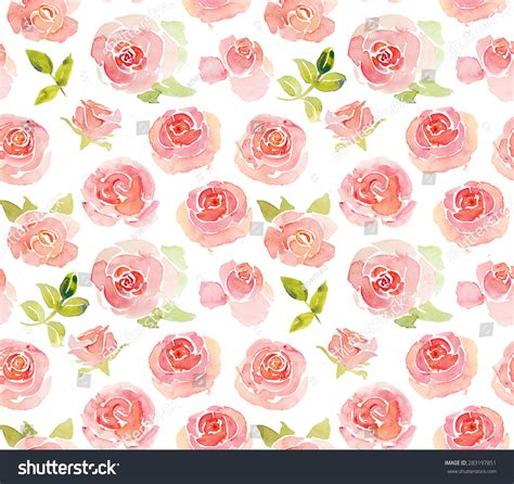 watercolor roses pattern abstract pink roses flower watercolor seamless stock