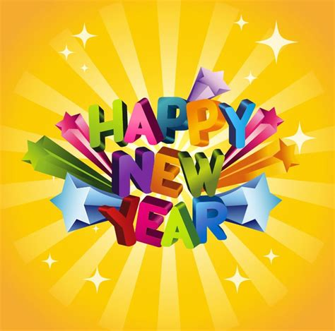 new year illustration happy new year 3d vector illustration free vector