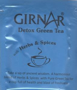 Girnar Detox Green Tea by Tea Bag Detox Green Tea With Herbs Spices Girnar