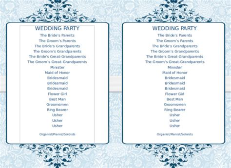 wedding program template instant download edit wording chic